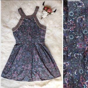 American Eagle Paisley Boho Print Dress